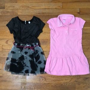 Lot of two girls short sleeve dresses, size 5T